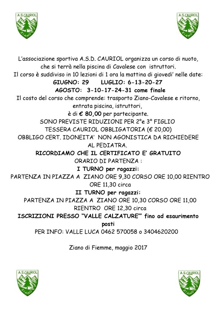 INVITI 2017 CORSO NUOTO GRANDE